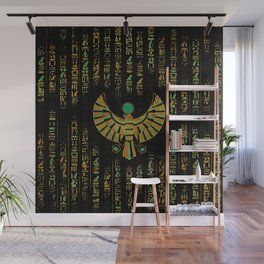 Egyptian Horus Falcon gold and color crystal Wall Mural