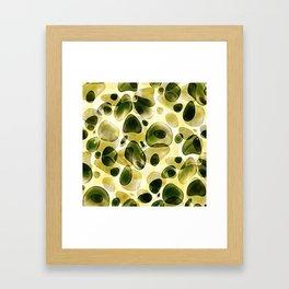 Fresh green blubber bubble Framed Art Print