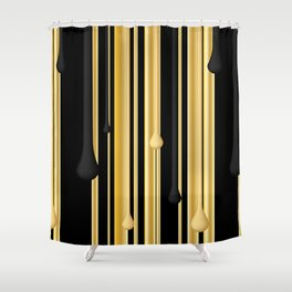 DRIPPING IN GOLD Shower Curtain