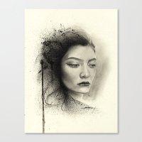 lorde Canvas Prints featuring Lorde by Creadoorm