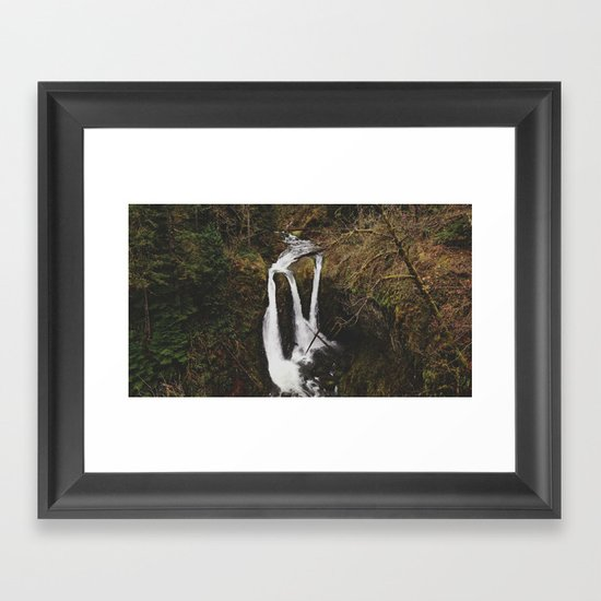 Triple Falls Framed Art Print