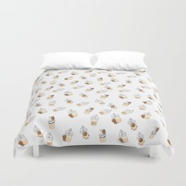I LOVE BUBBLE TEA Duvet Cover
