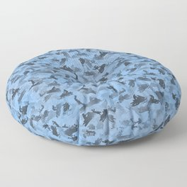 Snowmobile camouflage Floor Pillow
