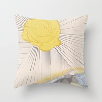 outlander Throw Pillows featuring Sassanach by Katie Boland