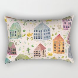 Cactus Town Rectangular Pillow