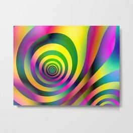 Colorful Stripes Pattern Metal Print