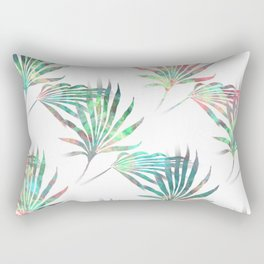 Palmetto Fronds Tropical Multicolor Pattern Rectangular Pillow