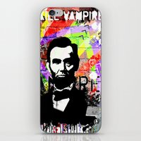 lincoln iPhone & iPod Skins featuring Lincoln by Zoé Rikardo
