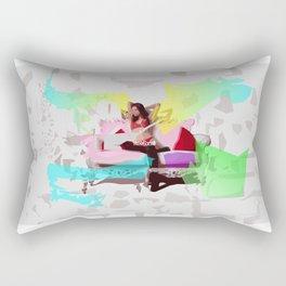 Sofa Girl Rectangular Pillow