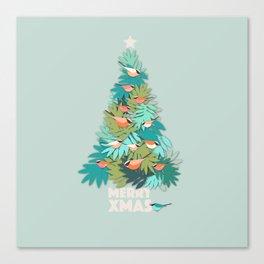 Tropical Xmas Canvas Print
