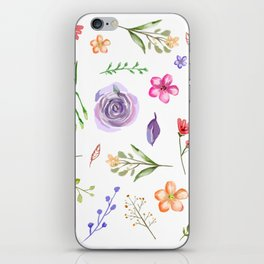 Dahlia - Watercolor Floral Style, Individual Watercolor Wedding Flowers Clipart Print Design iPhone Skin