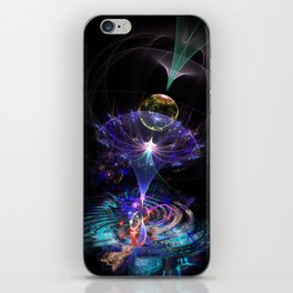Iris Flame Fractal iPhone Skin