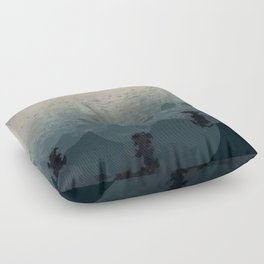 Sunrise Over the Sea Abstract Floor Pillow