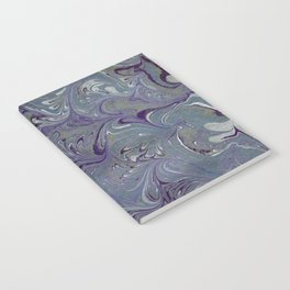 Purple, Blue, & Green Marbled Notebook