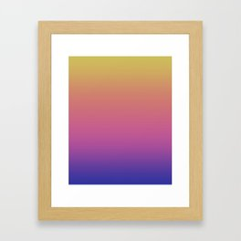 Fade pattern Framed Art Print