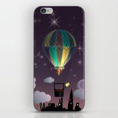 Balloon Aeronautics Night iPhone & iPod Skin