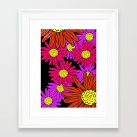 pushing daisies Framed Art Prints featuring Pushing Daisies by Lotus&Moon