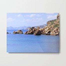 BLUE BLUE SEAS Metal Print