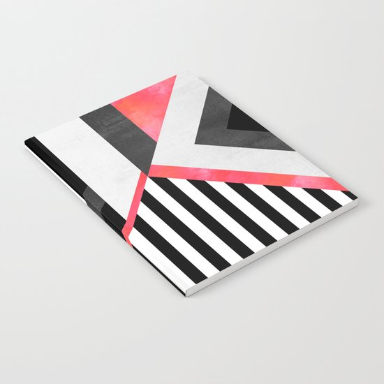 Stripe Combination / Pink Notebook