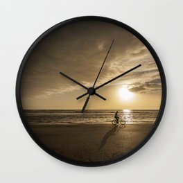 Sunrise Bicycle Matanzas Wall Clock