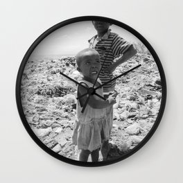 Garbage Slum Wall Clock
