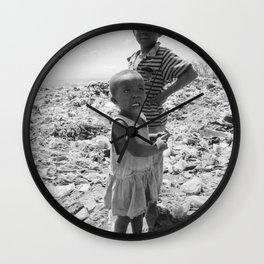 Garbage Slum Wall Clock