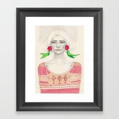 Two Red Flowers Framed Art Print