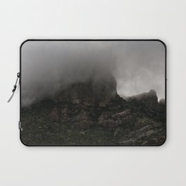 Foggy Chisos Mountaintop, Big Bend - Landscape Photography Laptop Sleeve