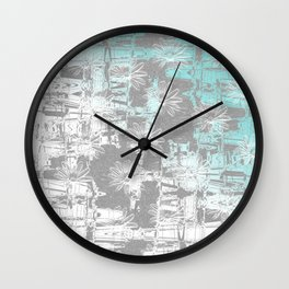 Flowers on a wall Wall Clock