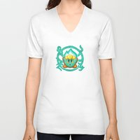 kirby V-neck T-shirts featuring Kirby Plasma by likelikes