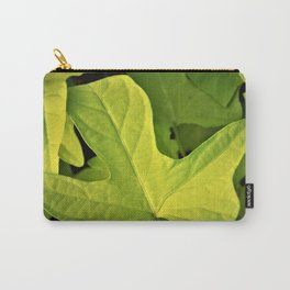 Golden Green Oak Leaves Carry-All Pouch