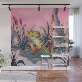 tentacle frog and life in pink ! Wall Mural