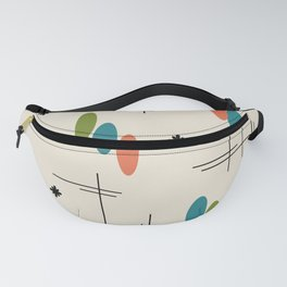 Ovals and Starbursts Colorful 1 Fanny Pack