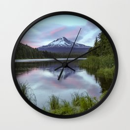Mt Hood Sunset Trillium Lake  7-12-19 Wall Clock
