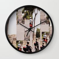 roman Wall Clocks featuring Roman Traffic by Eva Lesko