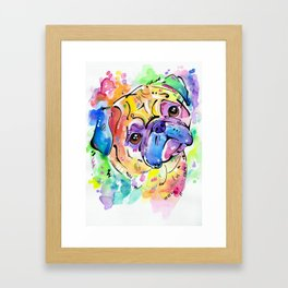 Pugsly Framed Art Print