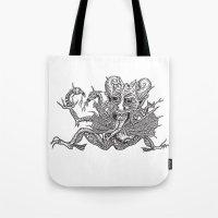 satan Tote Bags featuring SaTaN by Kurz Daniel