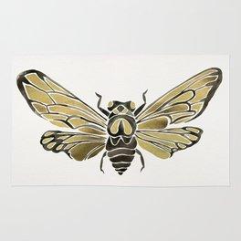 Summer Cicada – Black & Gold Palette Rug