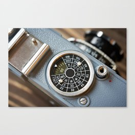 Wheel to set control sensitivity retro camera Canvas Print