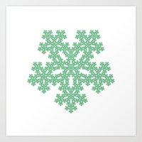 #451 Pentagon flake – Geometry Daily Art Print