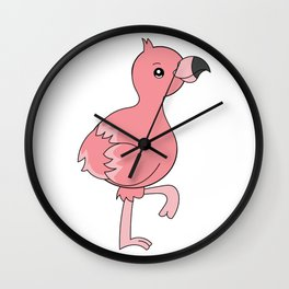 Flamingo Gifts Costume Dress Clipart Kawaii Wall Clock