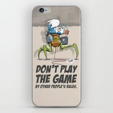 Don't Play The Game By Other People's Rules iPhone & iPod Skin