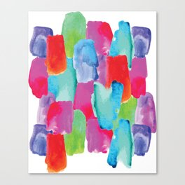 Watercolor stains Canvas Print