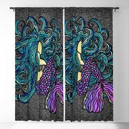 Midnight Mermaid Blackout Curtain