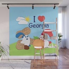 Ernest and Coraline | I love Georgia Wall Mural