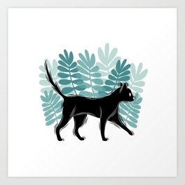 Forest kitty Art Print