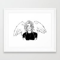 kendrawcandraw Framed Art Prints featuring Wings by kendrawcandraw