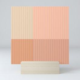 Color Block Line Abstract II Mini Art Print