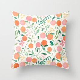 Vanilla Peaches Throw Pillow