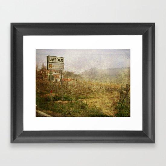 Barolo vineyards, Piedmont, Italy Framed Art Print